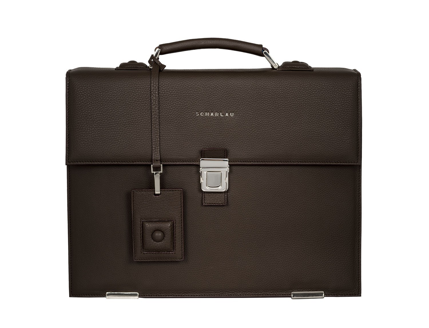 leather briefbag brown front
