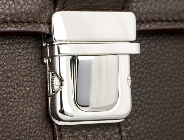 leather briefbag brown cierre