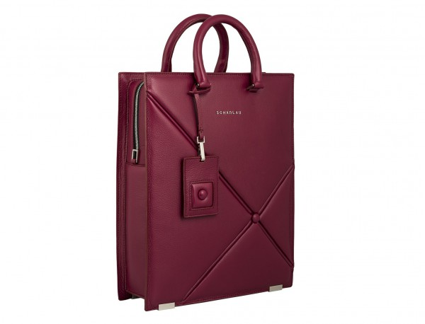 leather business bag woman berry side