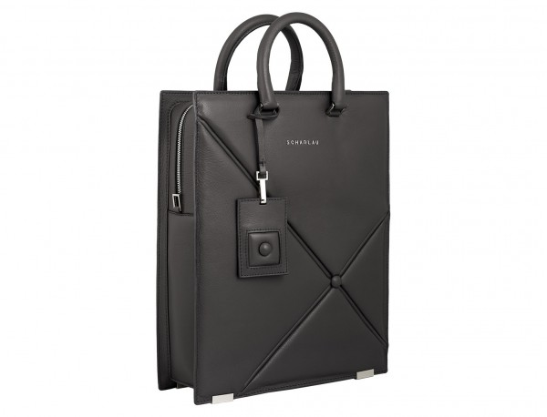 bolso para portátil de mujer gris lado