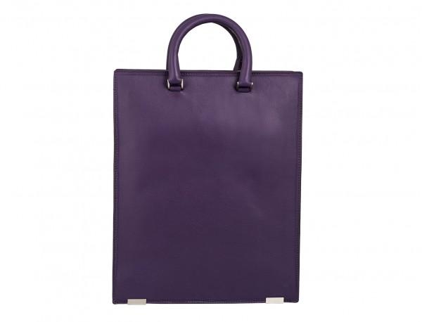 bolso para portátil de mujer lila detrás