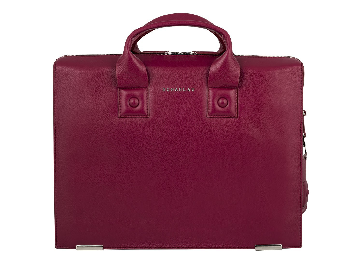 leather briefbag berry for women