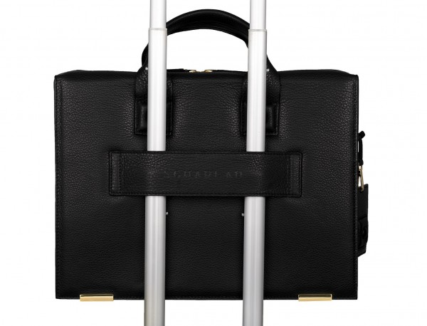 leather briefbag black in leather
