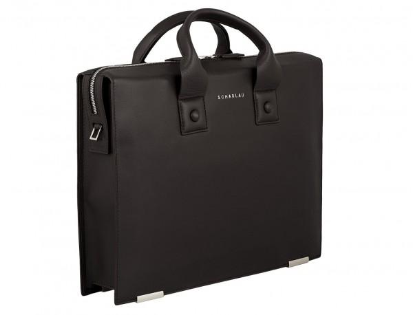 leather briefbag for men brown side