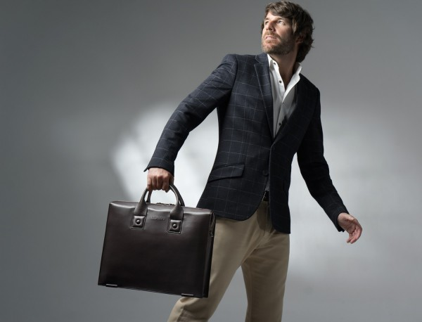leather briefbag for men brown lifestyle