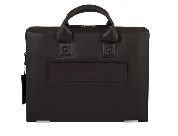 leather briefbag for men brown back trolley