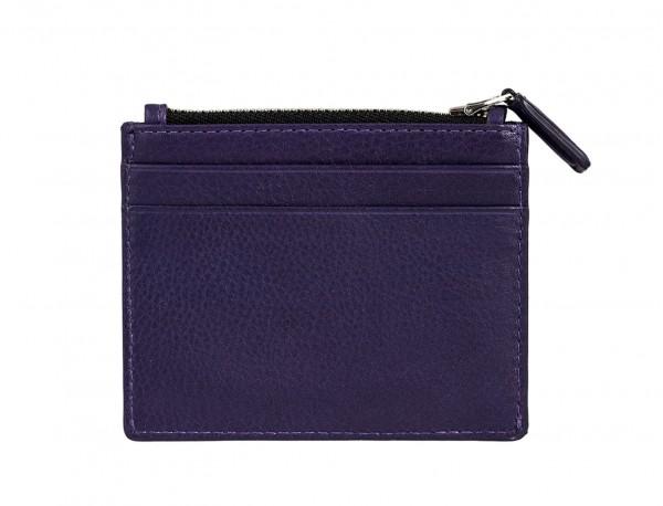 leather card holder violet back