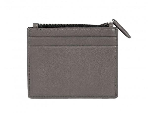 leather card holder gray back