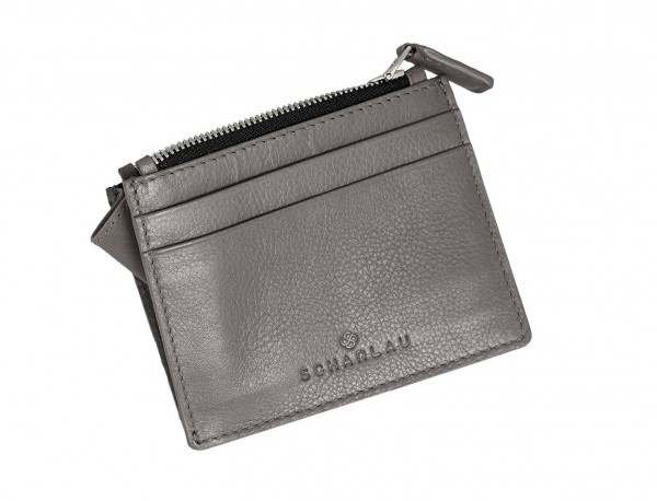 leather card holder gray side