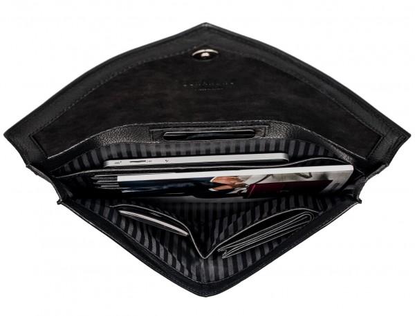 leather portfolio black inside