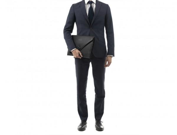 leather portfolio black lifestyle