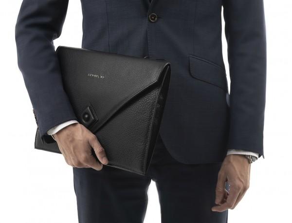 portadocumentos de piel negro modelo