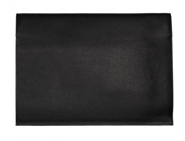 leather portfolio black back