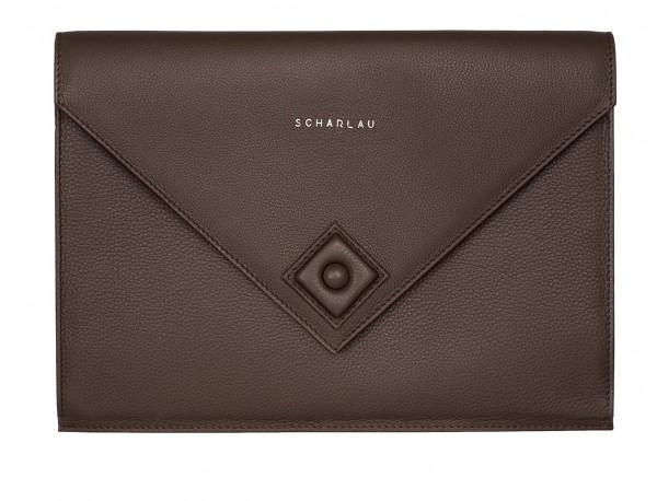 leather portfolio brown front