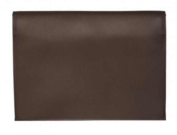 leather portfolio brown back
