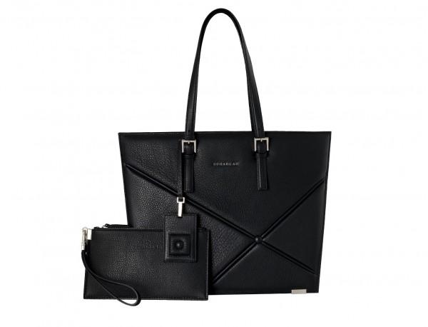bolso de mujer para el portátil negro frontal
