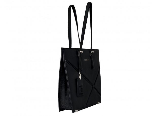 leather women's laptop bag black  side