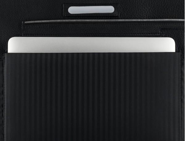 leather women's laptop bag black plate