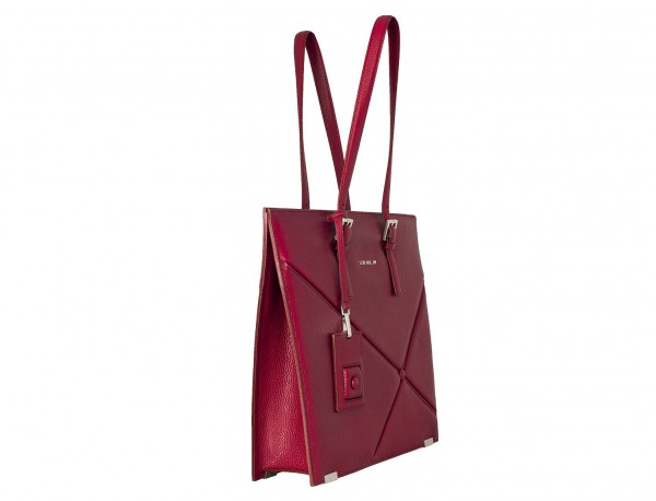 leather women's laptop bag berry side