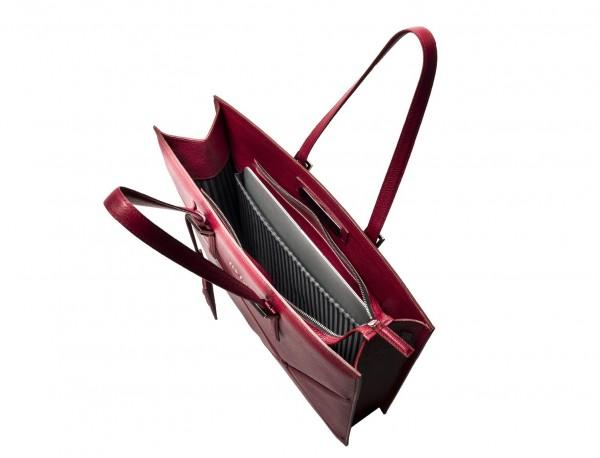 leather women's laptop bag berry inside