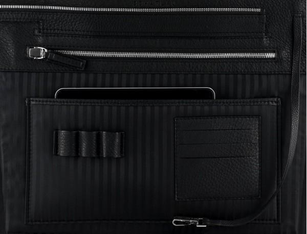leather women's laptop bag berry detail