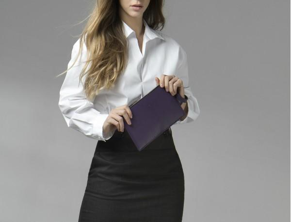bolso de noche para mujer en cuero negro modelo