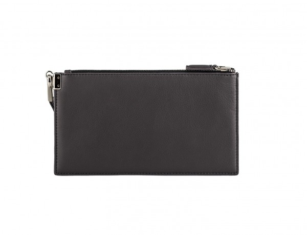 leather clutch gray back