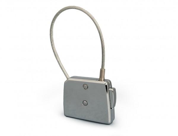silver luggage lock back