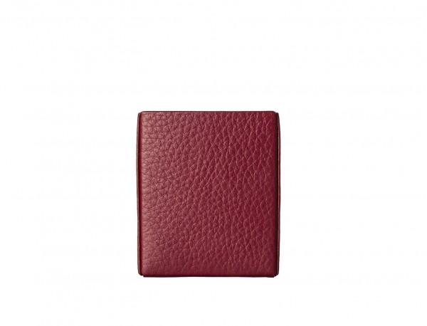 burgundy leather cigarette case back