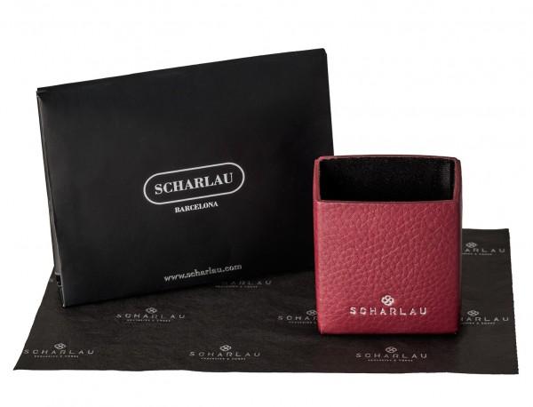 burgundy leather cigarette case lifestyle