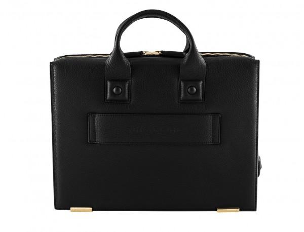 leather briefbag black back