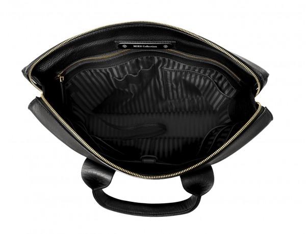 leather briefbag black inside