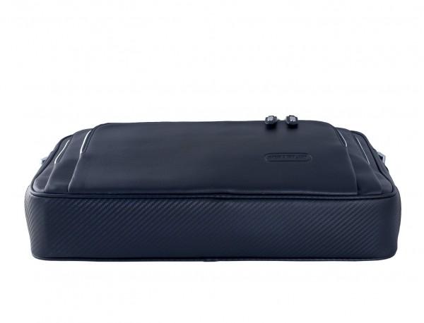maletín ejecutivo de cuero en color todo negro azul base