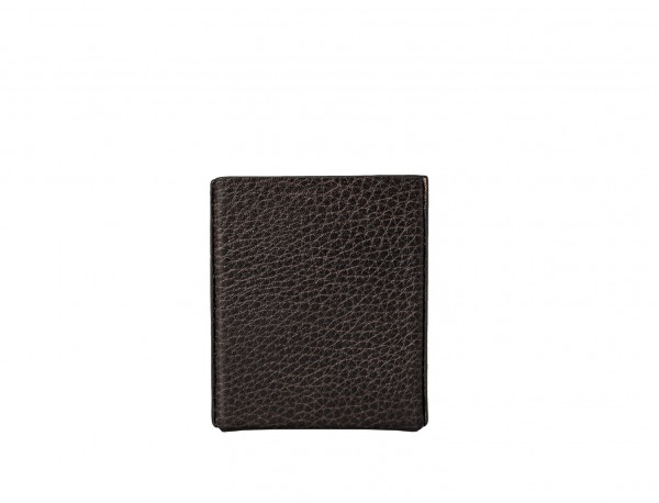 brown leather cigarette case back