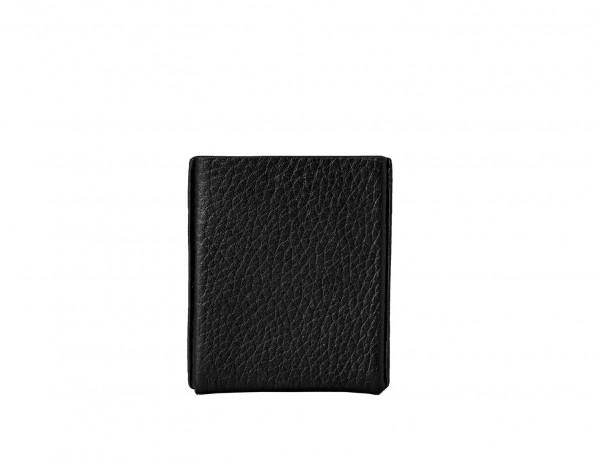 black leather cigarette case back