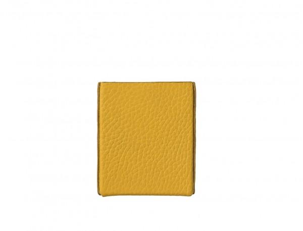 portasigarette in pelle giallo back
