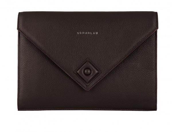 leather portfolio burgundy front