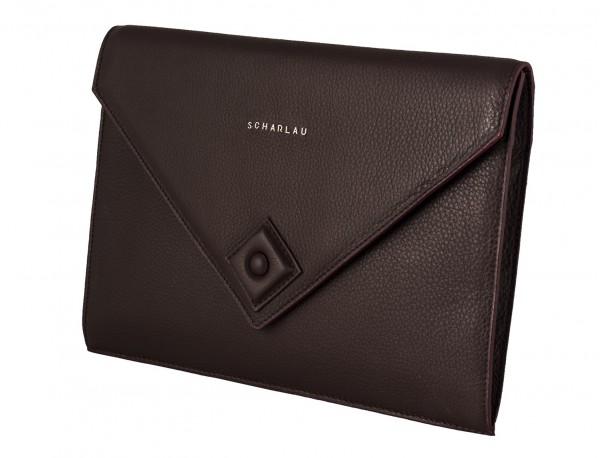 leather portfolio burgundy side