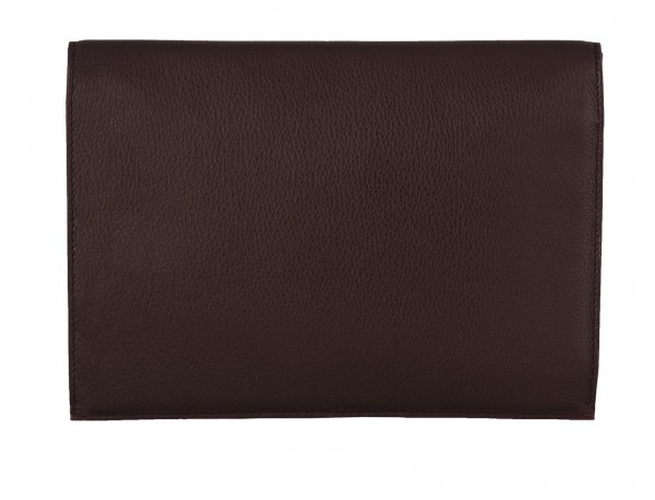 leather portfolio burgundy back