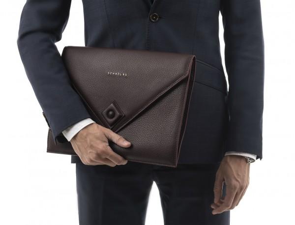 leather portfolio burgundy model