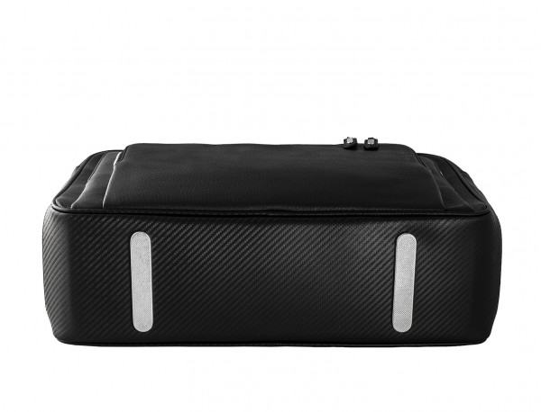 leather black briefcase for men in black base