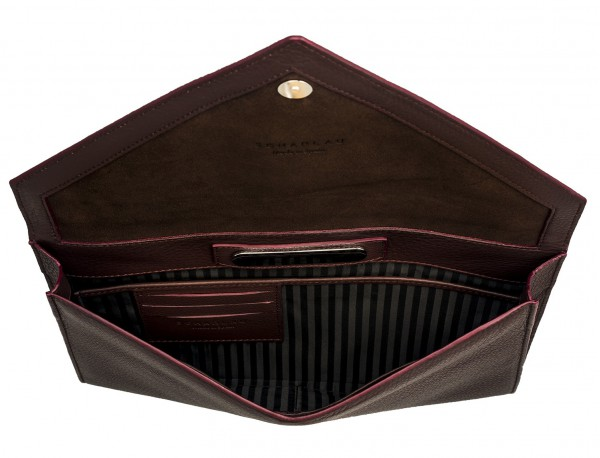 leather portfolio burgundy inside