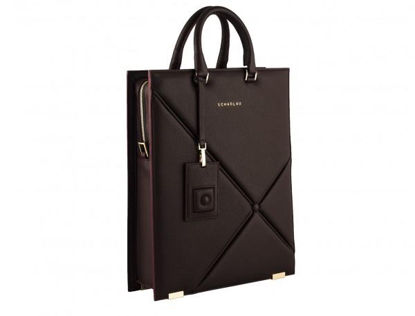 burgundy leather laptop bag for women side