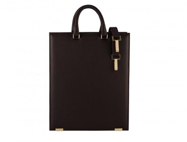 borsa per laptop da donna in pelle bordeaux back