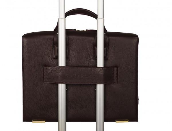 leather briefbag burgundy trolley