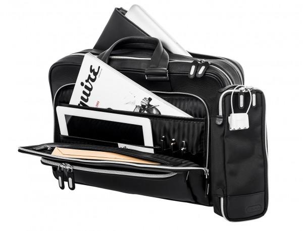 leather black briefcase for men in black bodegon