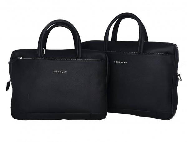 maletín de cuero negro tamaños