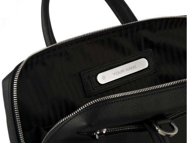 maletín de cuero pequeño en negro personalizado