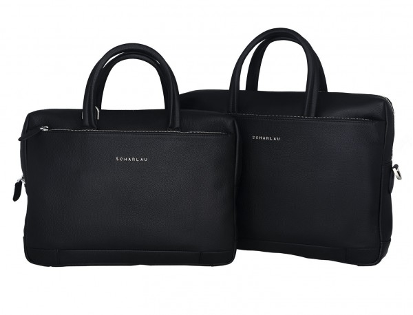 small leather briefcase in black measures