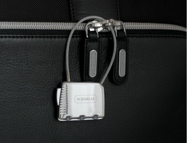 silver luggage lock lifestyle